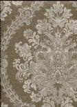 Home Wallpaper Jaquard Damask 2614-21040 By Beacon House For Brewster Fine Decor